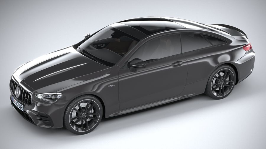 Mercedes E53 Coupe AMG 2021 royalty-free 3d model - Preview no. 8