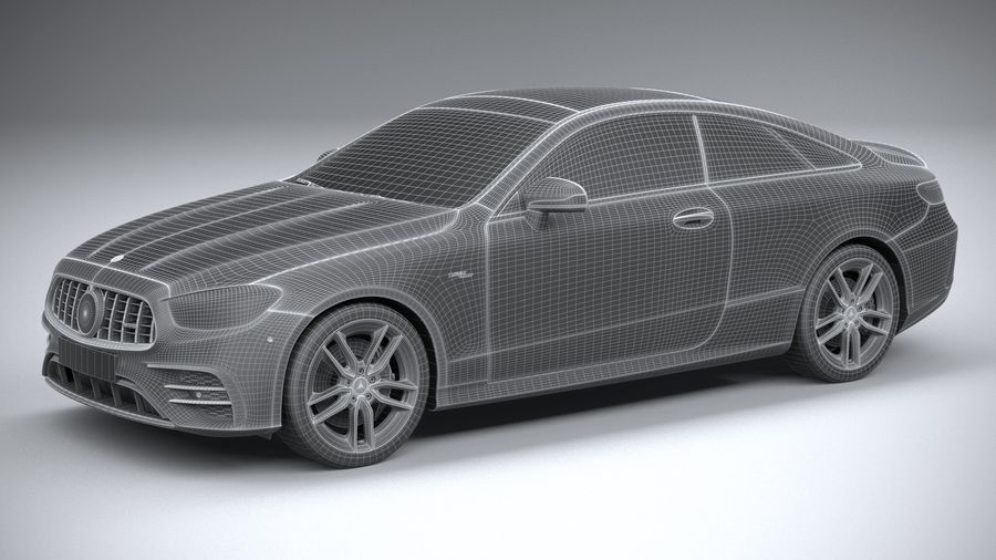 Mercedes E53 Coupe AMG 2021 royalty-free 3d model - Preview no. 30