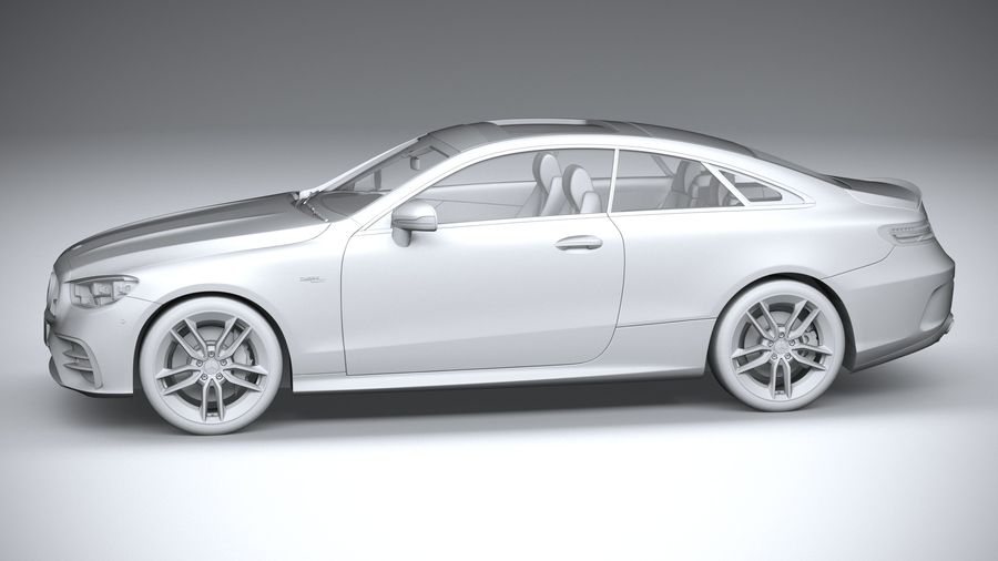 Mercedes E53 Coupe AMG 2021 royalty-free 3d model - Preview no. 23