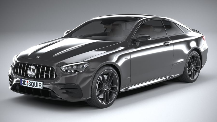 Mercedes E53 Coupe AMG 2021 royalty-free 3d model - Preview no. 2