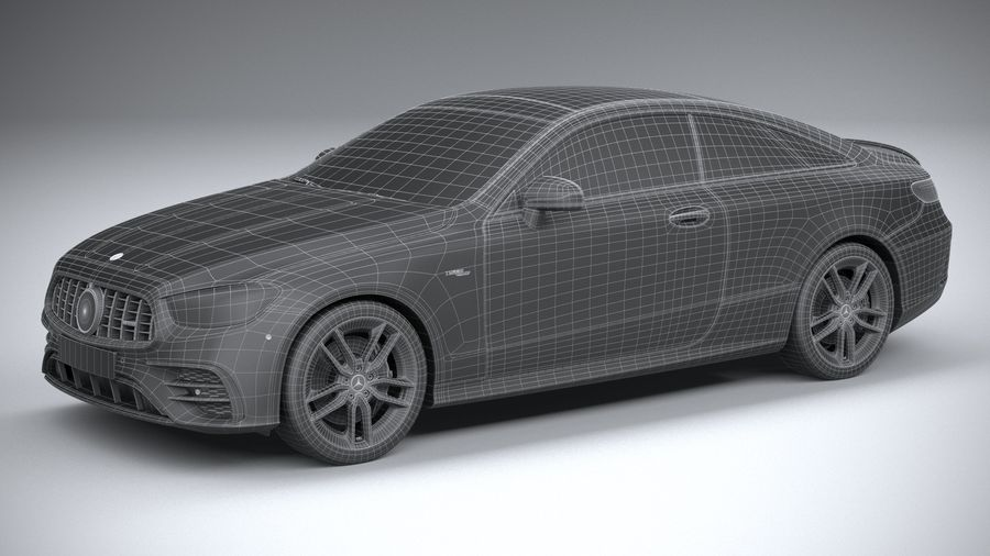 Mercedes E53 Coupe AMG 2021 royalty-free 3d model - Preview no. 32