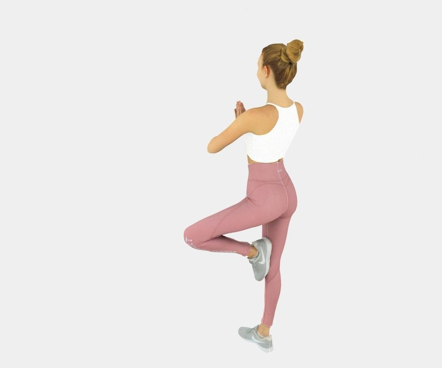 Francine pose 40 - Yoga royalty-free modelo 3d - Preview no. 4
