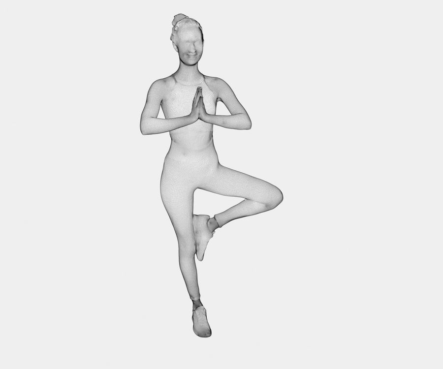 Francine pose 40 - Yoga royalty-free modelo 3d - Preview no. 13