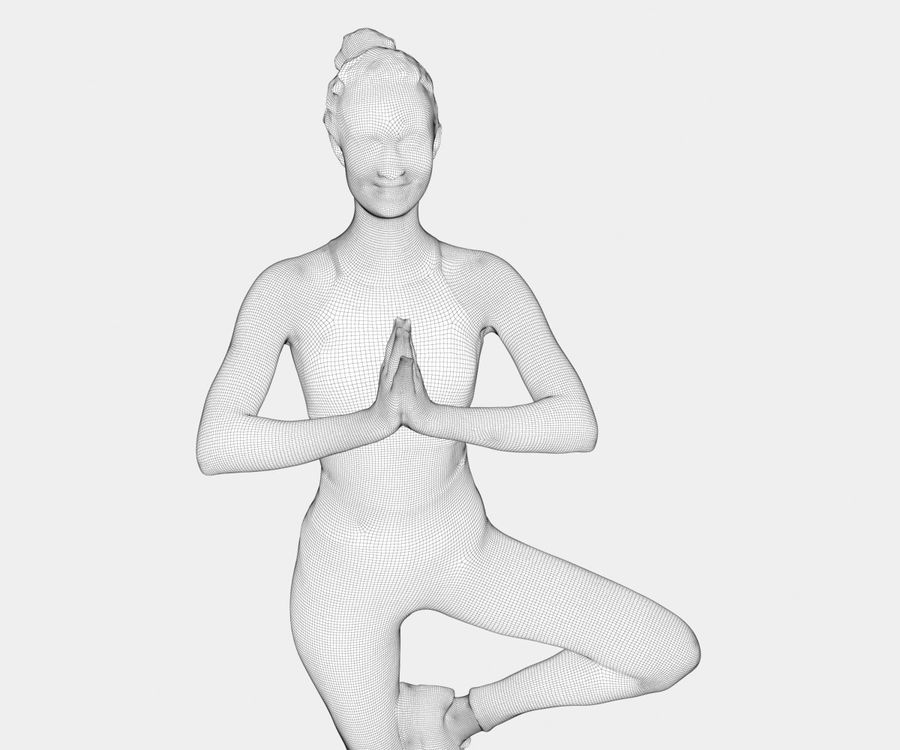 Francine pose 40 - Yoga royalty-free modelo 3d - Preview no. 12