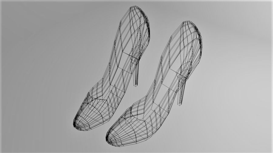 High-heeled Shoe 1 royalty-free 3d model - Preview no. 7