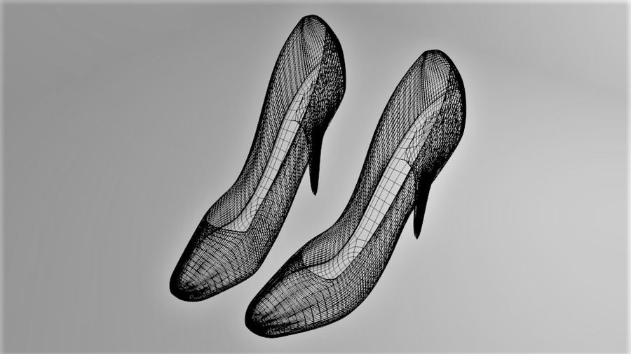 High-heeled Shoe 1 royalty-free 3d model - Preview no. 8