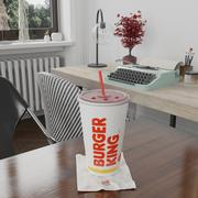Burger King Photorealistic PBR Cup Low-poly 3d model