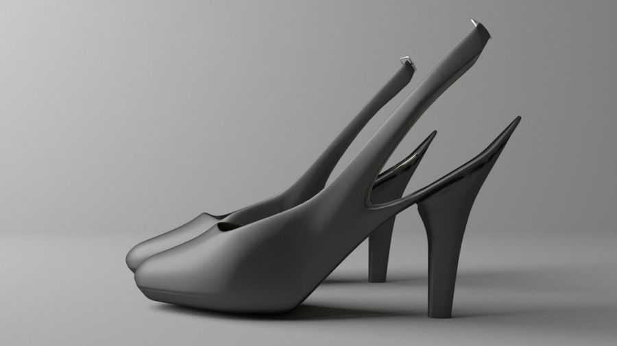 High-heeled Shoe 2 royalty-free 3d model - Preview no. 5
