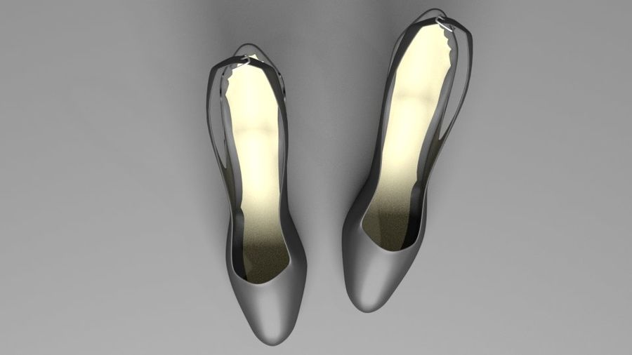 High-heeled Shoe 2 royalty-free 3d model - Preview no. 4