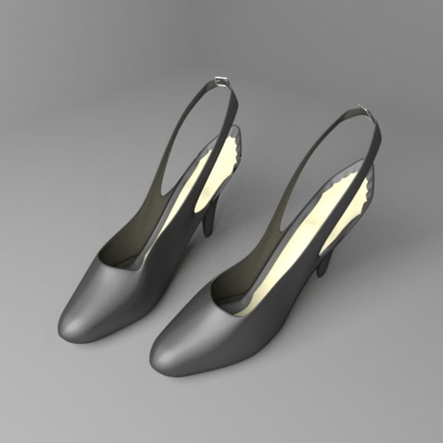 High-heeled Shoe 2 royalty-free 3d model - Preview no. 1