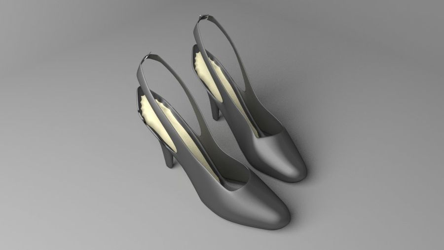 High-heeled Shoe 2 royalty-free 3d model - Preview no. 6
