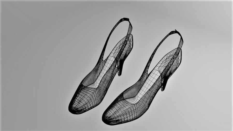 High-heeled Shoe 2 royalty-free 3d model - Preview no. 8
