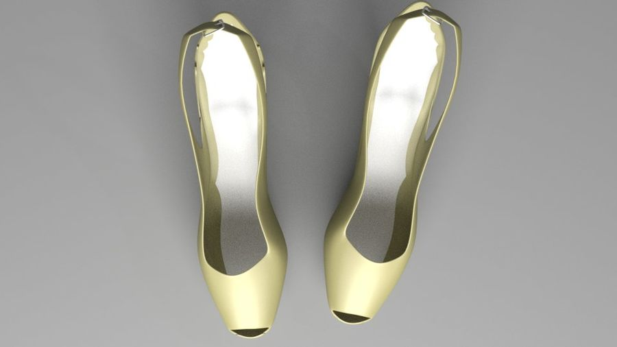 High-heeled Shoe 3 royalty-free 3d model - Preview no. 4