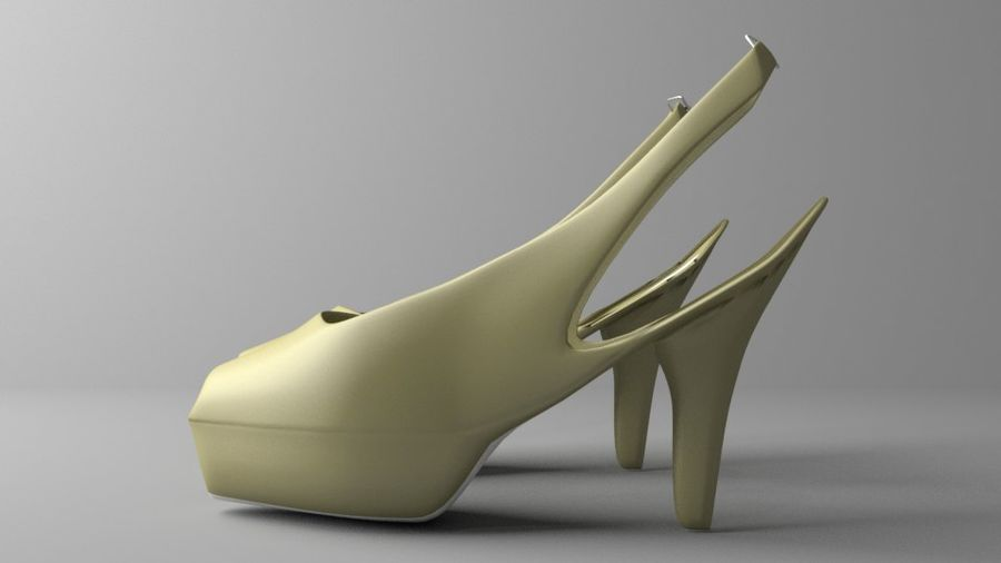 High-heeled Shoe 3 royalty-free 3d model - Preview no. 5