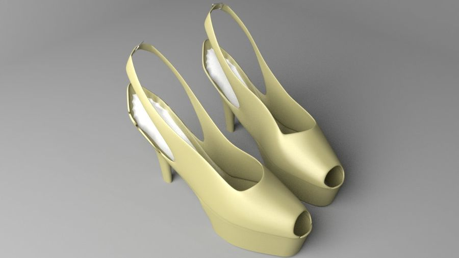 High-heeled Shoe 3 royalty-free 3d model - Preview no. 6