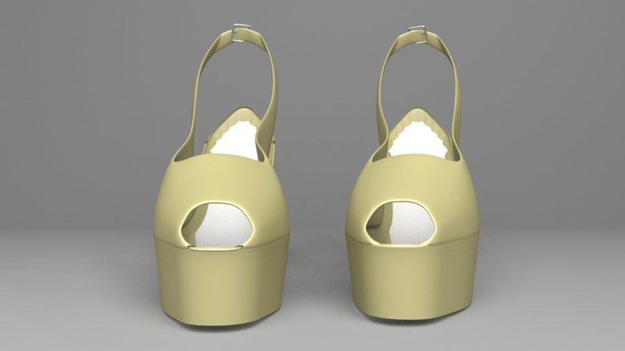 High-heeled Shoe 3 royalty-free 3d model - Preview no. 3