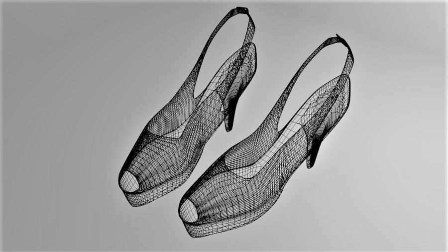 High-heeled Shoe 3 royalty-free 3d model - Preview no. 8