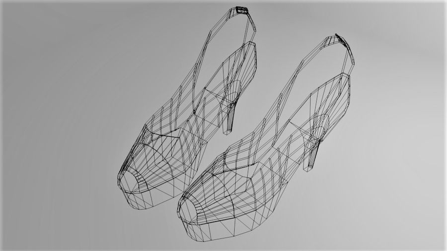 High-heeled Shoe 3 royalty-free 3d model - Preview no. 7