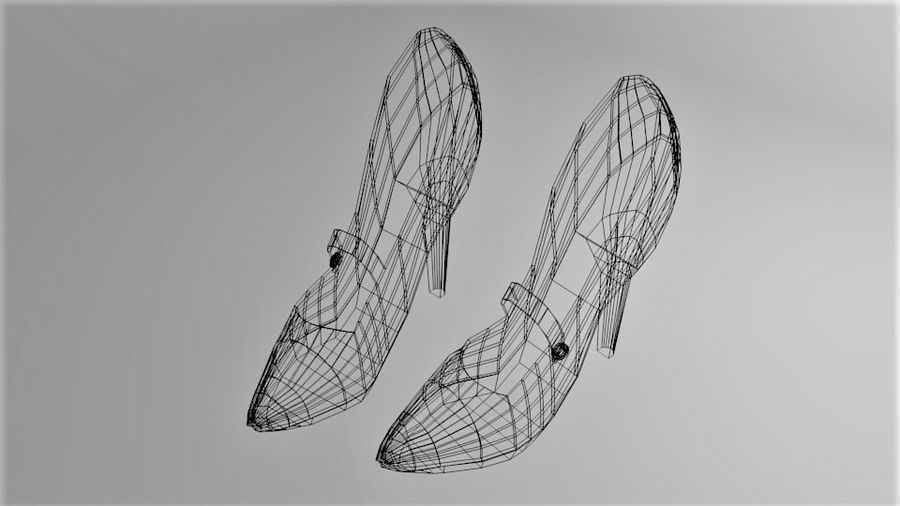 High-heeled Shoe 4 royalty-free 3d model - Preview no. 7