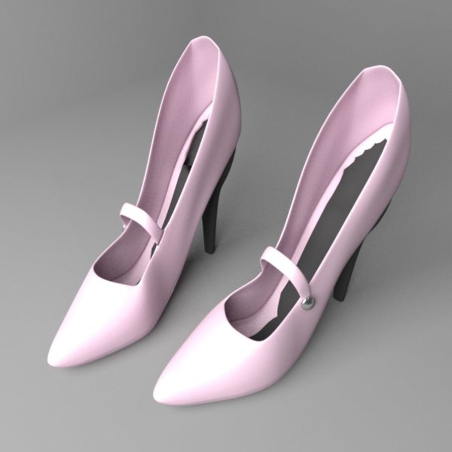 High-heeled Shoe 4 royalty-free 3d model - Preview no. 1