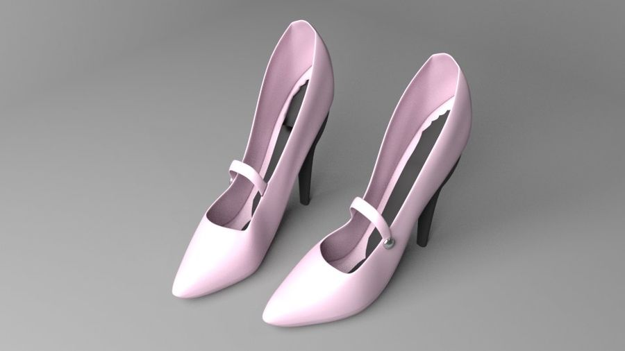 High-heeled Shoe 4 royalty-free 3d model - Preview no. 2