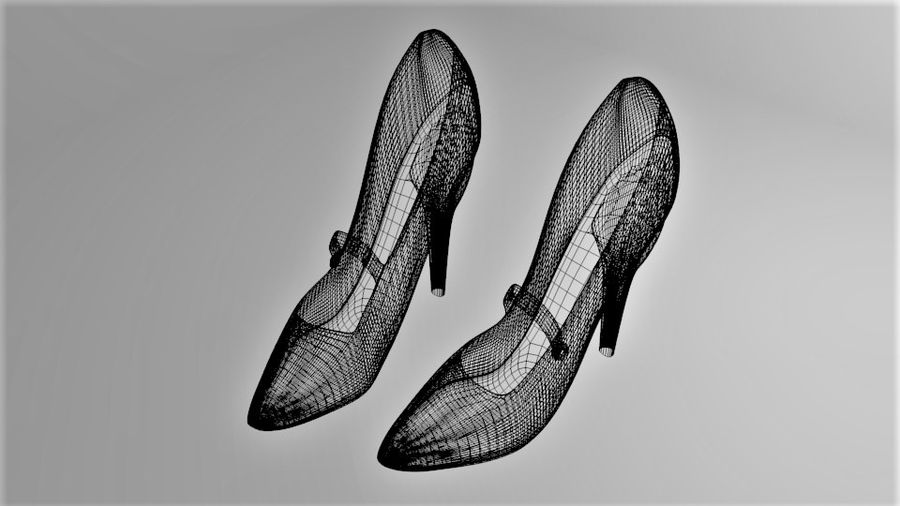 High-heeled Shoe 4 royalty-free 3d model - Preview no. 8