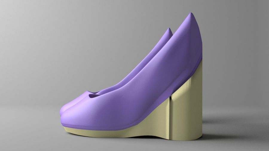 High-heeled Shoe 5 royalty-free 3d model - Preview no. 5