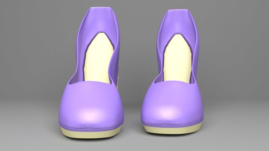 High-heeled Shoe 5 royalty-free 3d model - Preview no. 3