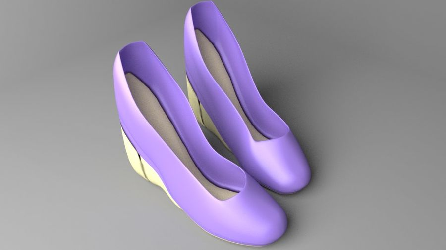 High-heeled Shoe 5 royalty-free 3d model - Preview no. 6