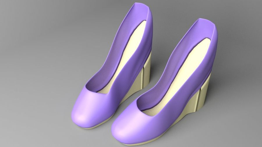 High-heeled Shoe 5 royalty-free 3d model - Preview no. 2