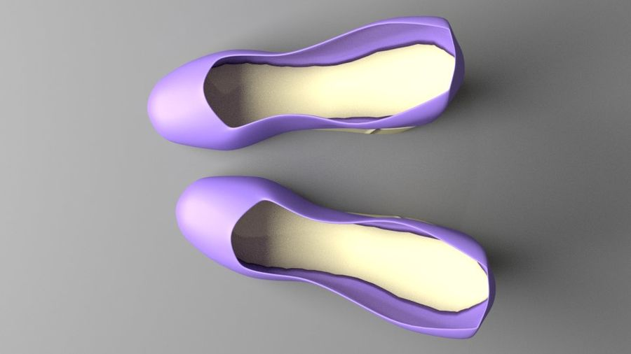 High-heeled Shoe 5 royalty-free 3d model - Preview no. 4