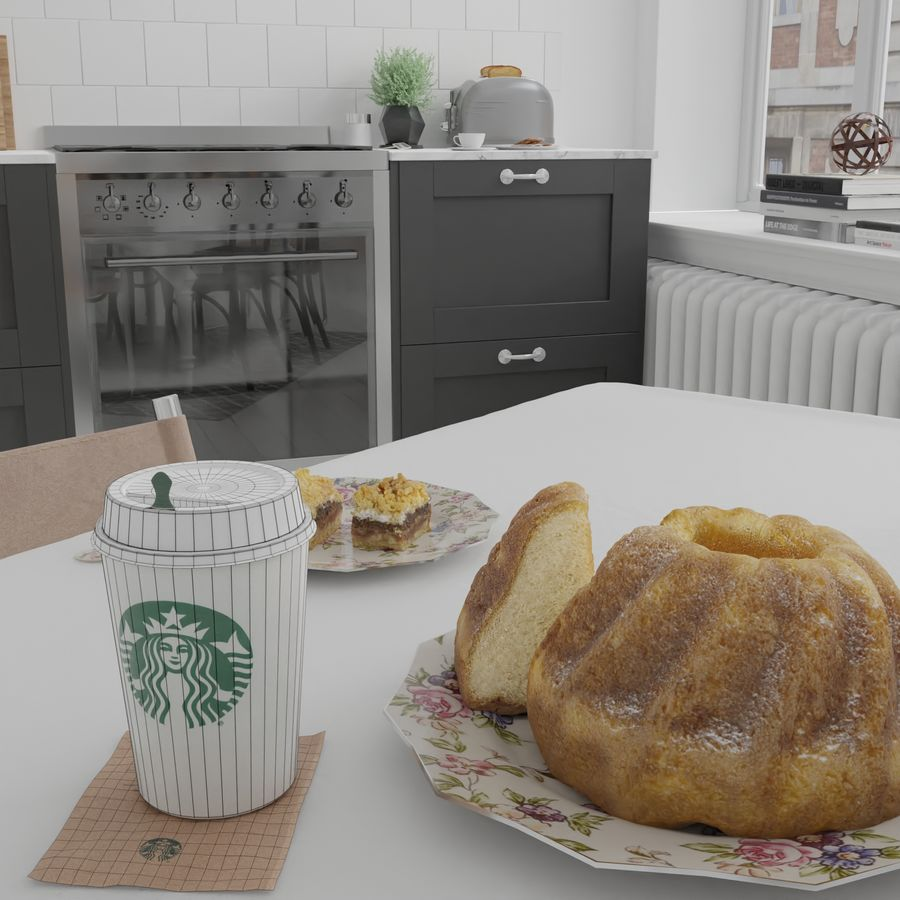 Starbucks Photorealistic PBR Cup Low-poly royalty-free 3d model - Preview no. 9