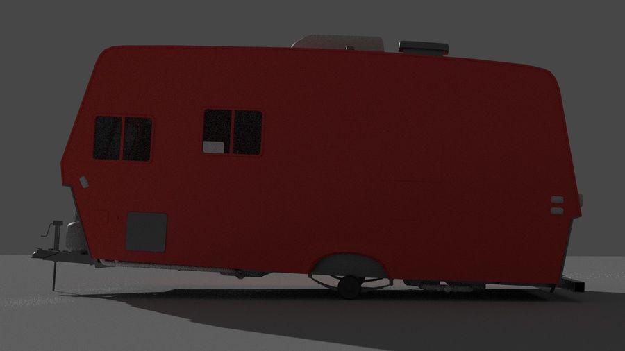 caravan trailer royalty-free 3d model - Preview no. 3