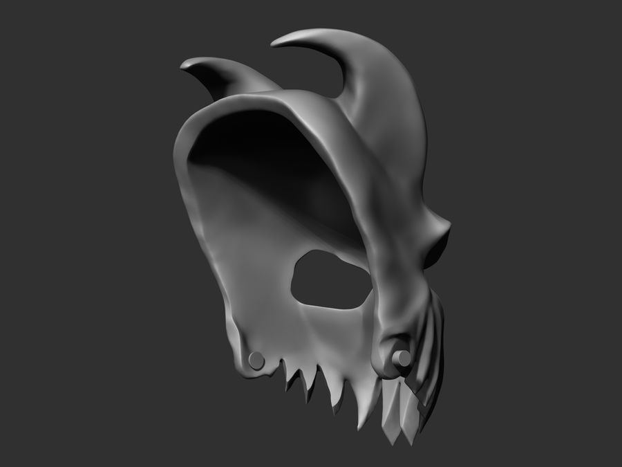 Kid of darkness alex terrible mask 3D print royalty-free 3d model - Preview no. 4