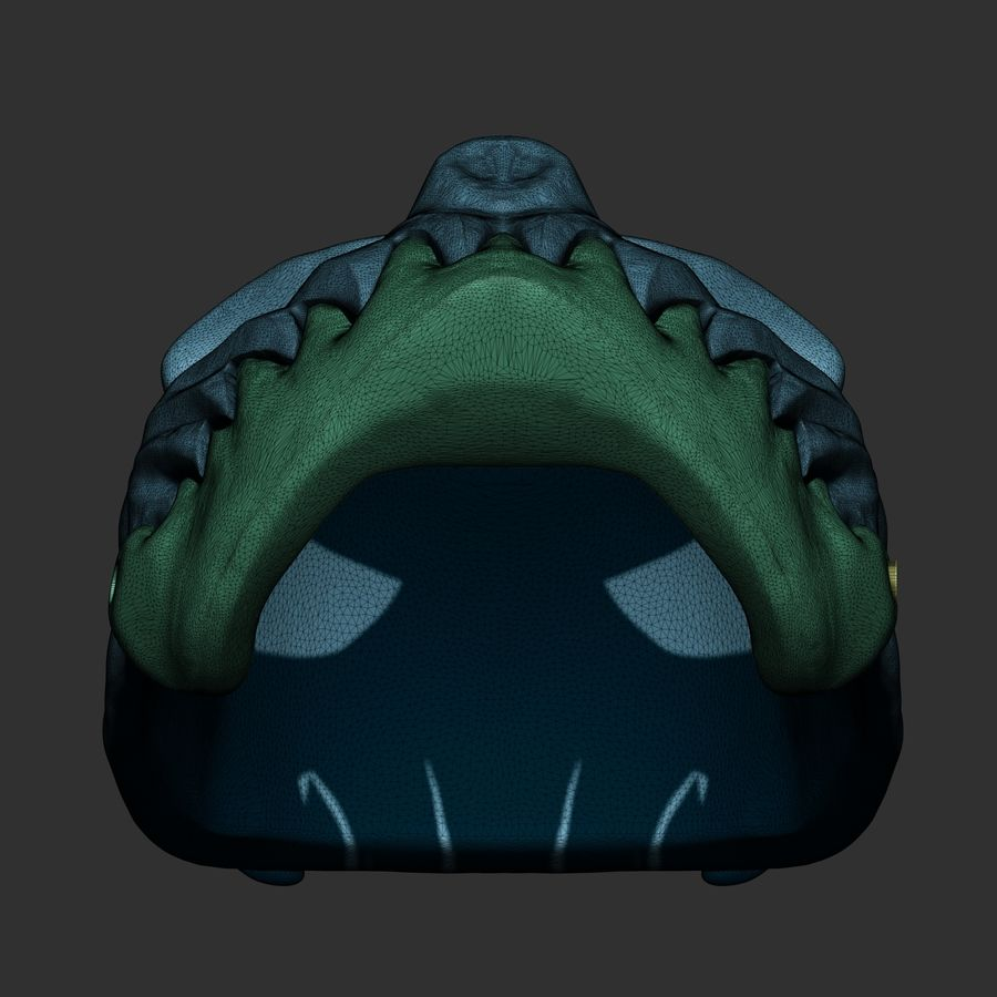 Kid of darkness alex terrible mask 3D print royalty-free 3d model - Preview no. 1