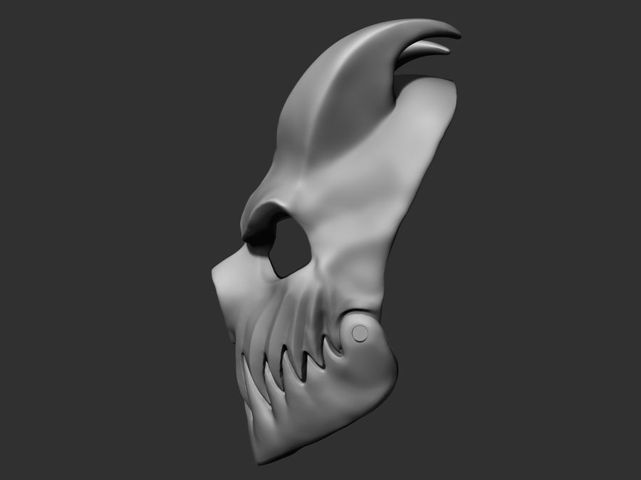 Kid of darkness alex terrible mask 3D print royalty-free 3d model - Preview no. 3