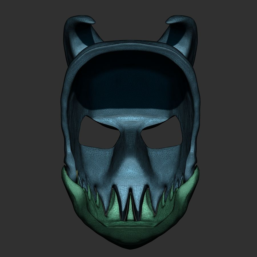 Kid of darkness alex terrible mask 3D print royalty-free 3d model - Preview no. 9