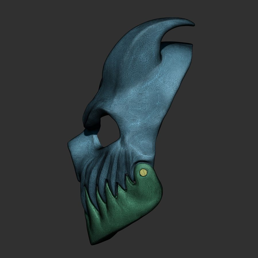 Kid of darkness alex terrible mask 3D print royalty-free 3d model - Preview no. 8