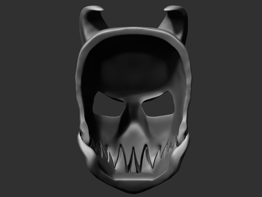 Kid of darkness alex terrible mask 3D print royalty-free 3d model - Preview no. 2