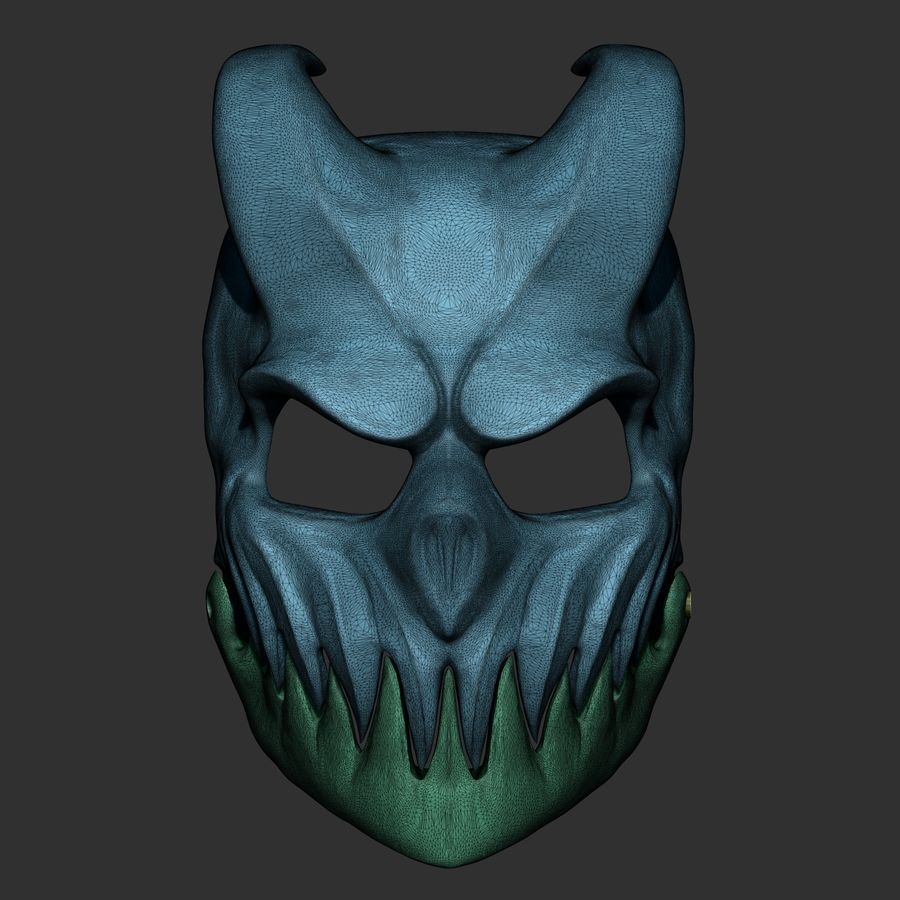 Kid of darkness alex terrible mask 3D print royalty-free 3d model - Preview no. 7