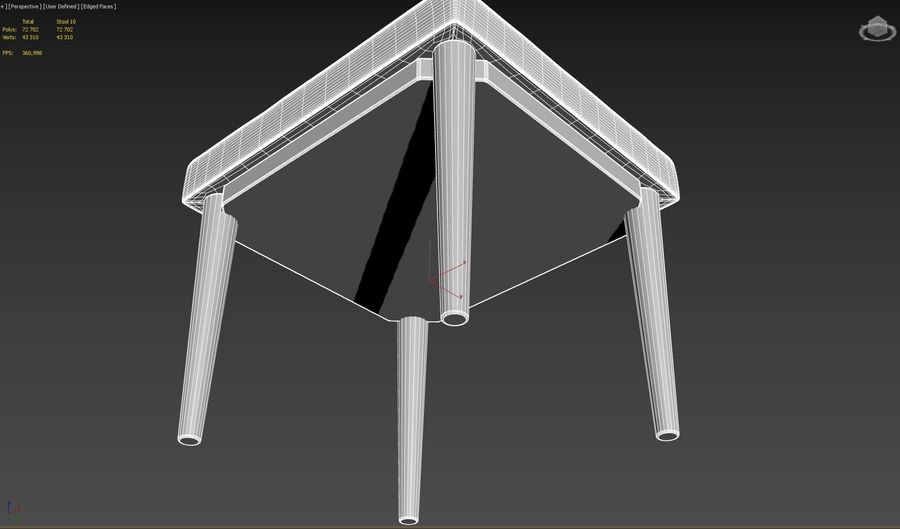 Stool 10 royalty-free 3d model - Preview no. 7