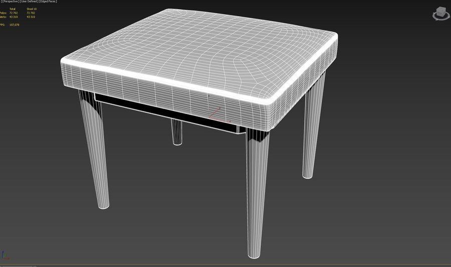 Stool 10 royalty-free 3d model - Preview no. 6
