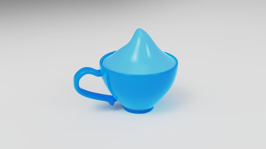 Teacup with Stylized Sugar royalty-free 3d model - Preview no. 8