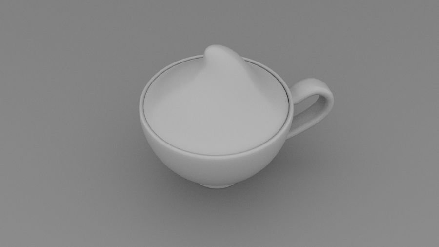 Teacup with Stylized Sugar royalty-free 3d model - Preview no. 2