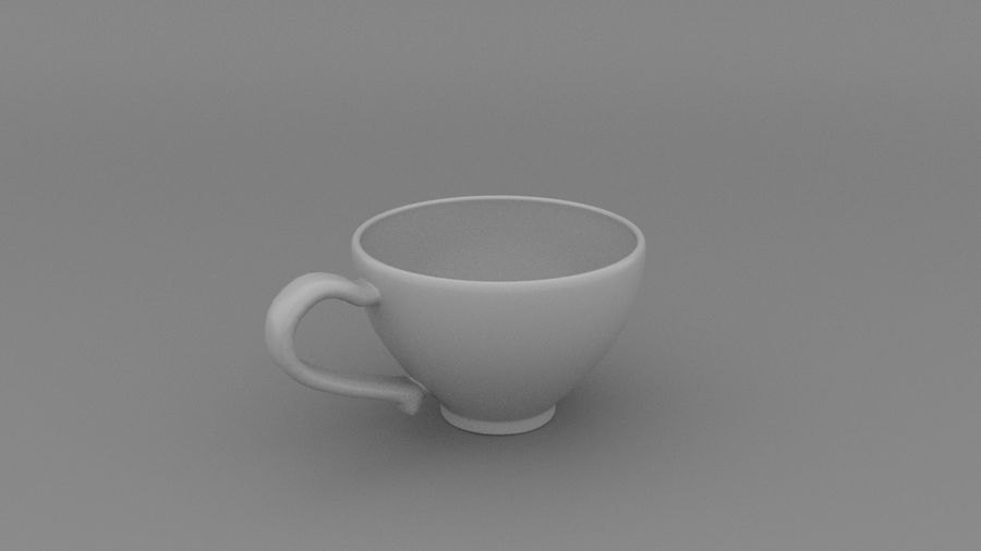 Teacup with Stylized Sugar royalty-free 3d model - Preview no. 5