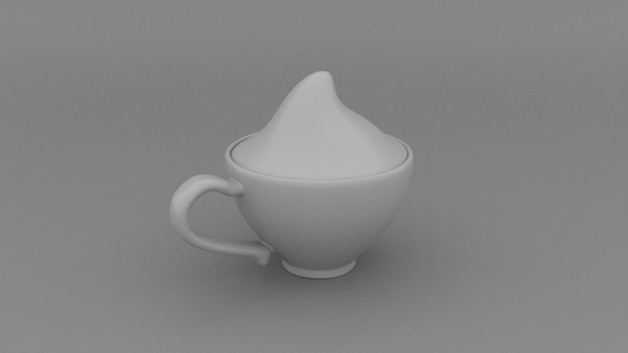 Teacup with Stylized Sugar royalty-free 3d model - Preview no. 3