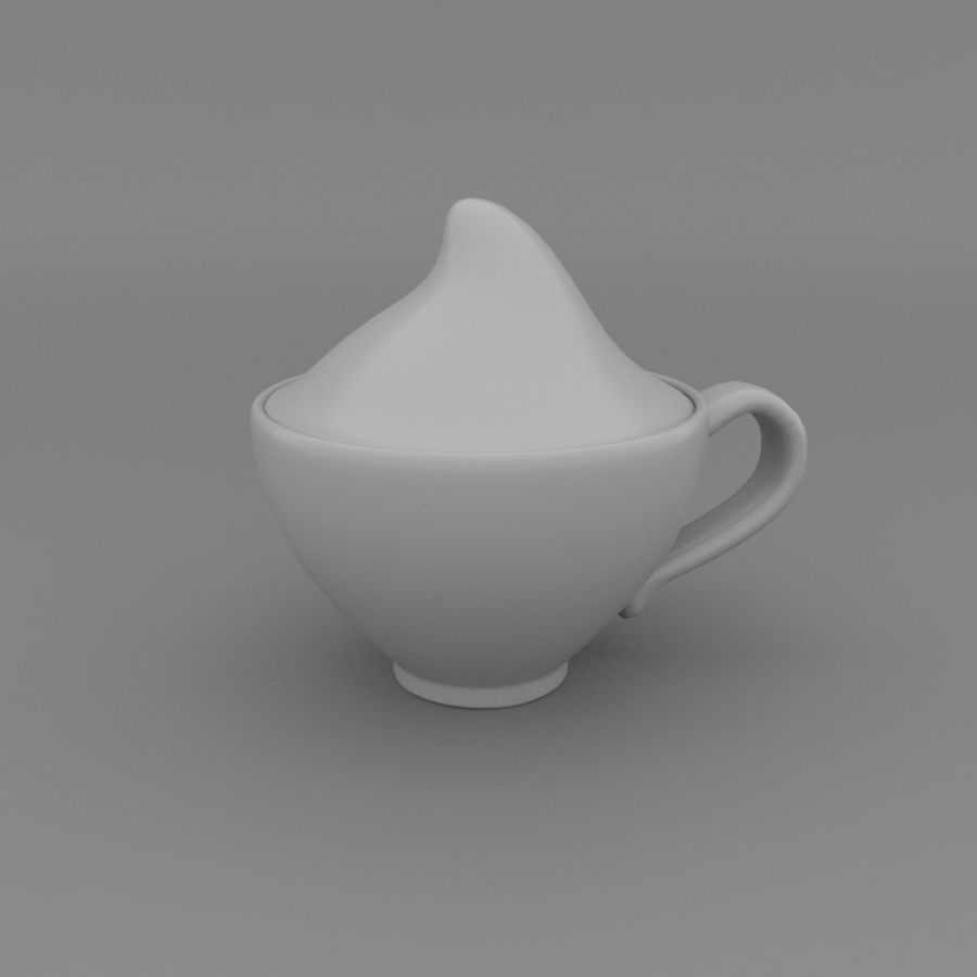 Teacup with Stylized Sugar royalty-free 3d model - Preview no. 1