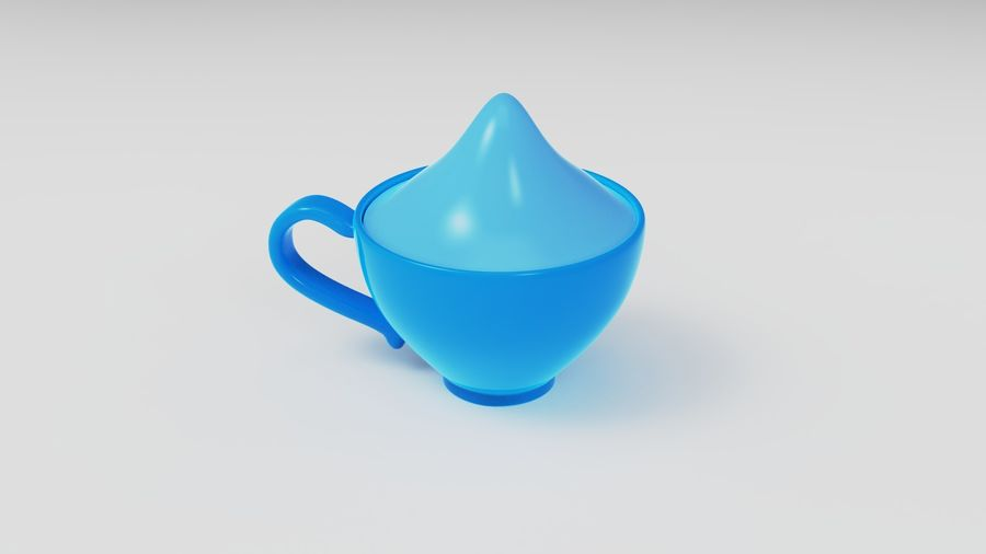 Teacup with Stylized Sugar royalty-free 3d model - Preview no. 7