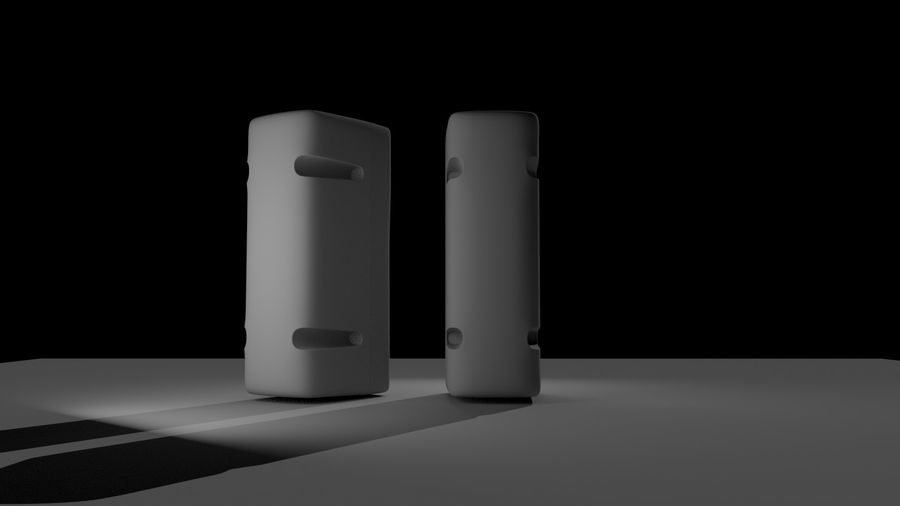 speakers royalty-free 3d model - Preview no. 3