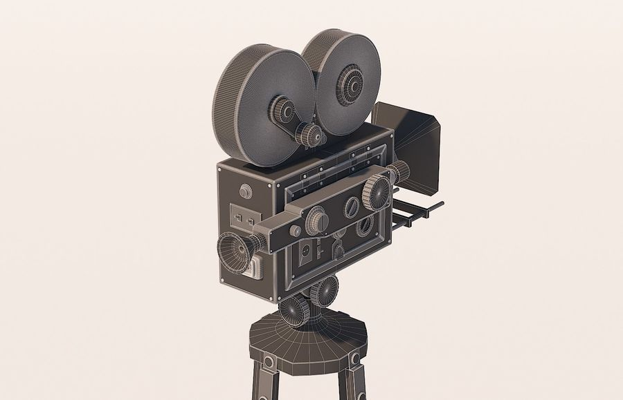 movie camera royalty-free 3d model - Preview no. 5